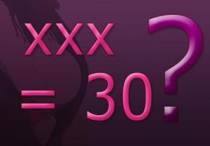 XXX means number 30. Really?